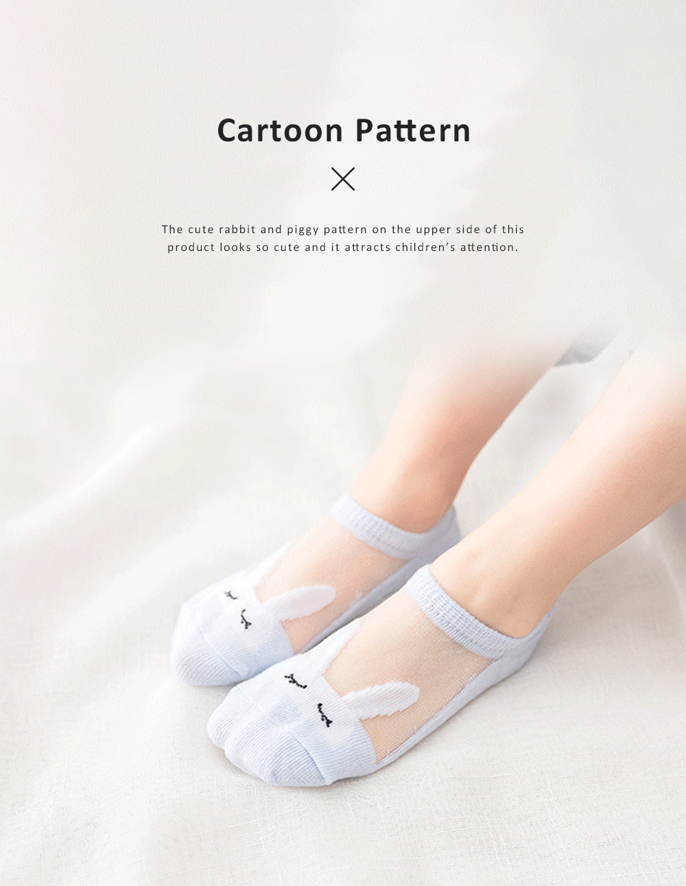 5 Pairs Latest Cotton and Glass Fibre Material Summer Ankle Socks for Children, High Quality Thin Low-cut Socks with Silicone Pad 2