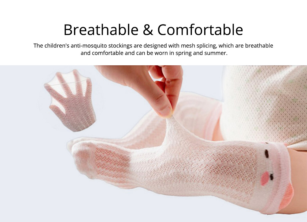 Children's Anti-mosquito Stockings for Baby All Cotton Mesh Three-dimensional Cartoon Leggings Knee High Socks Thin Spring Summer 2