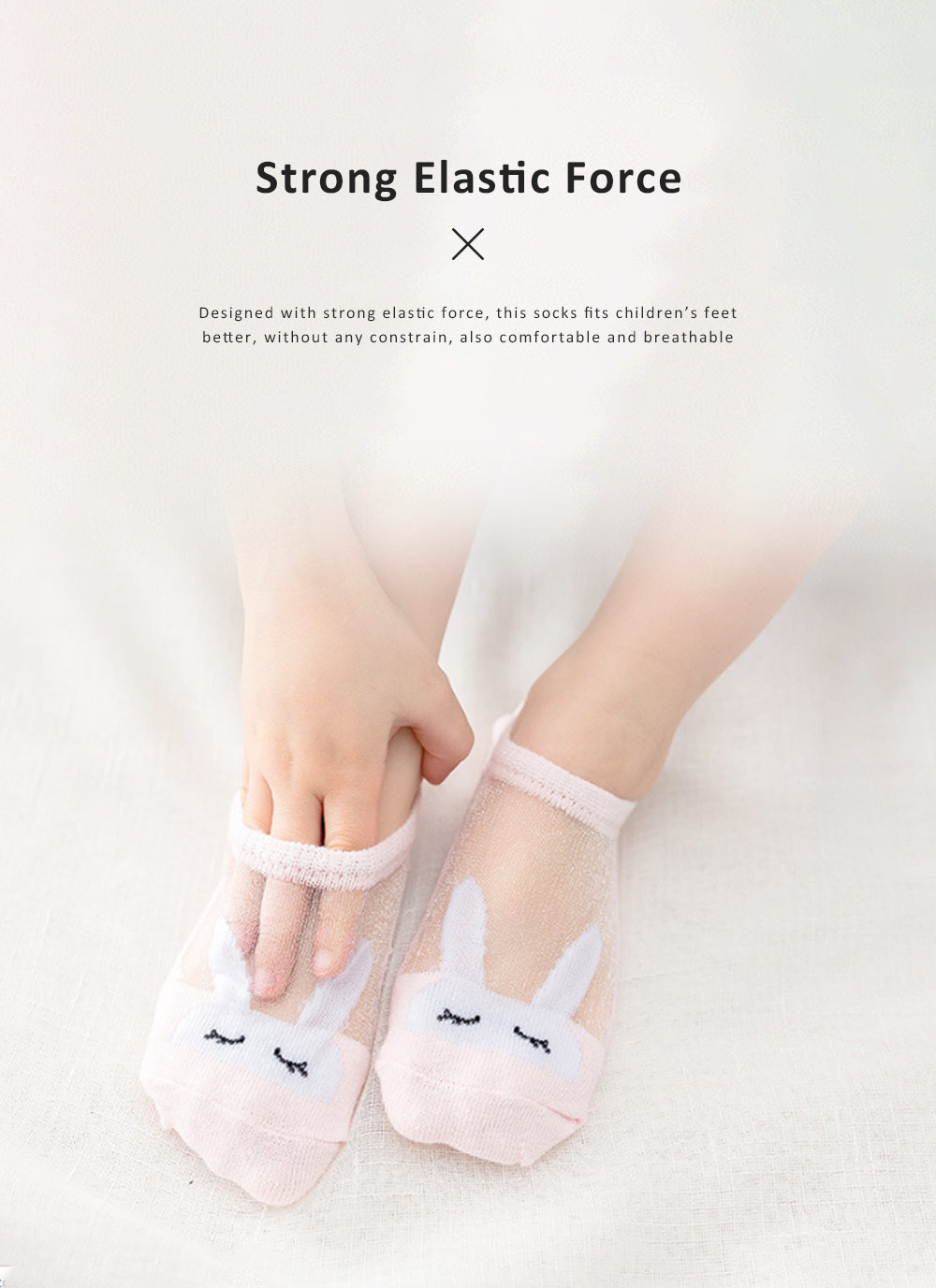 5 Pairs Latest Cotton and Glass Fibre Material Summer Ankle Socks for Children, High Quality Thin Low-cut Socks with Silicone Pad 4