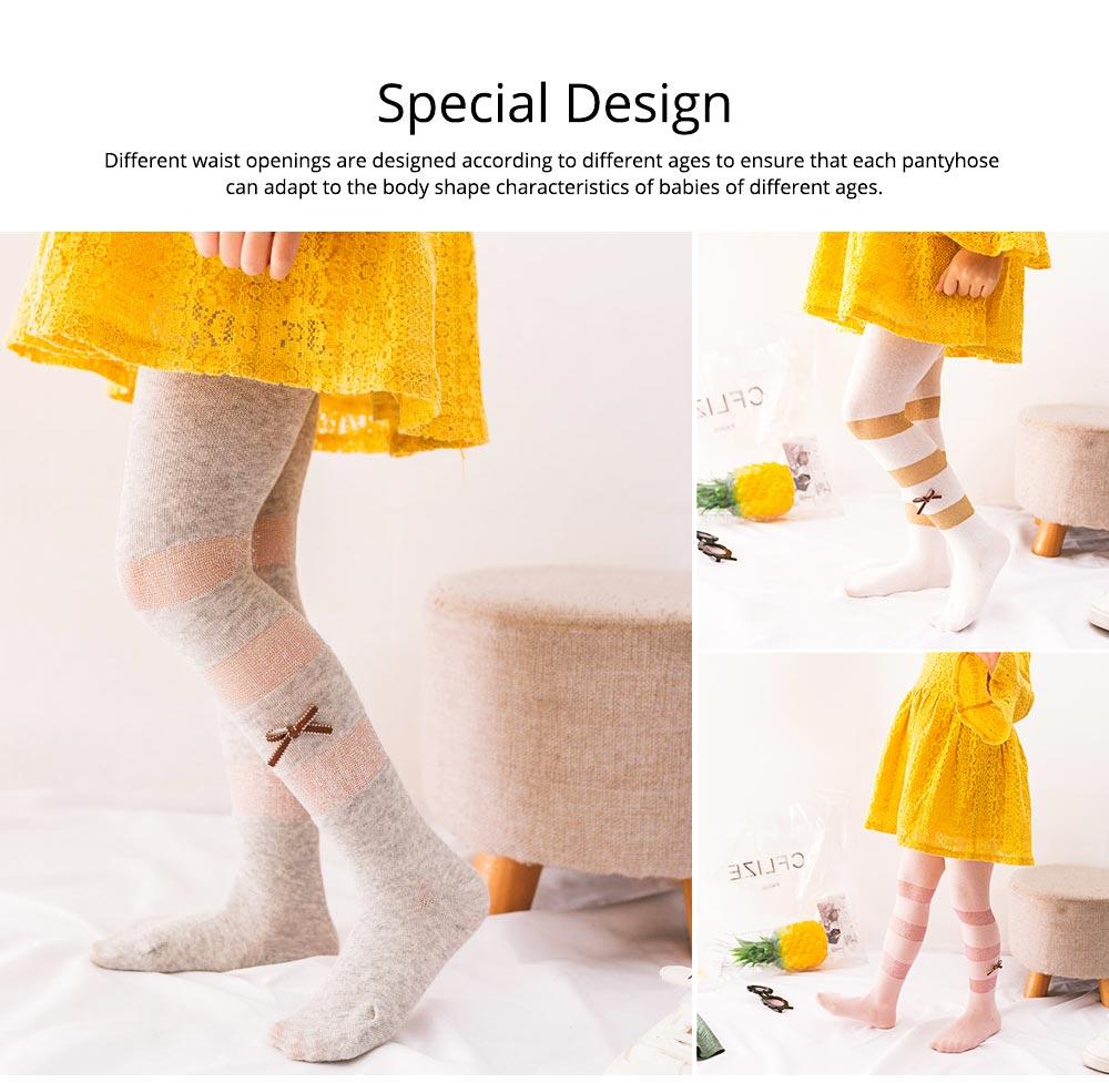 Spring Summer Children's Pantyhose All Cotton Metallic Yarn Mesh Thin Infant Fashion Stockings Two-needle Baby Leggings 6