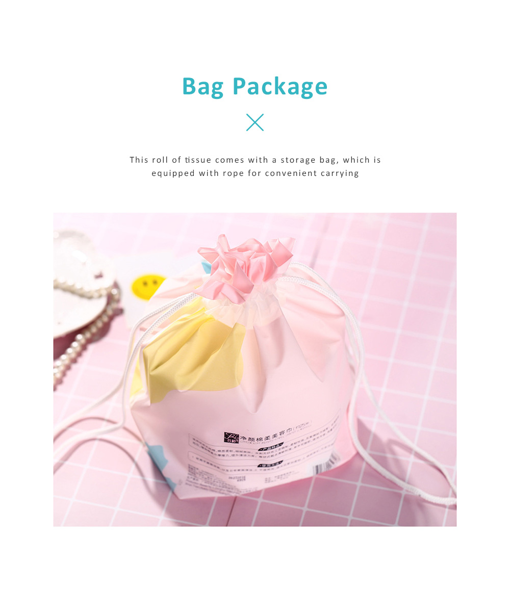 Dual Use Dry Wet Face Towel Make Up Cleanser Disposable Facial Cleaning Tissue Natural Cotton Soft Towel Hygienic Makeup Accessory 5