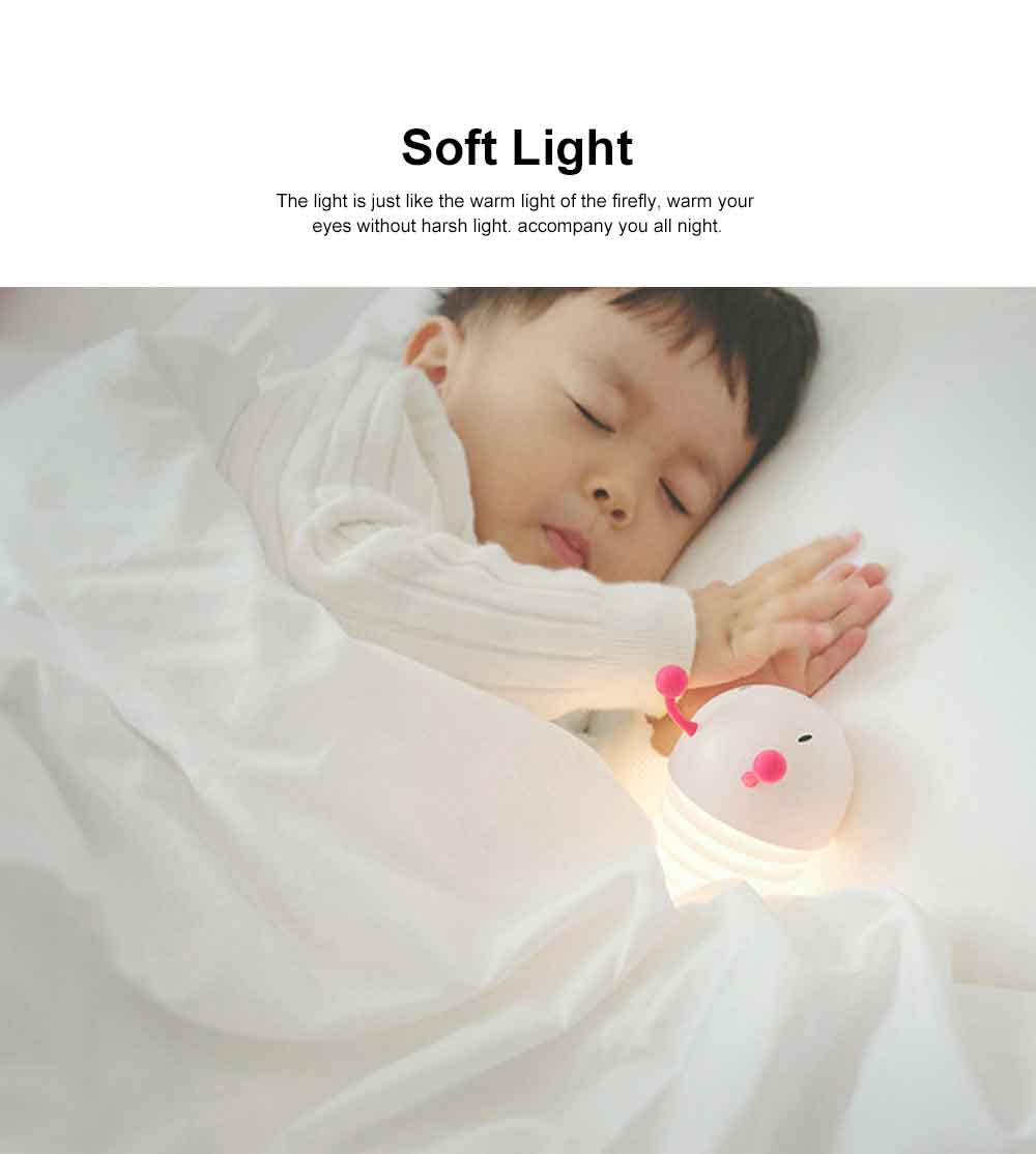 Creative USB LED Rechargeable Wall Lamp with Soft Light, Caterpillar Night Light for Children to Sleep Restful. 3
