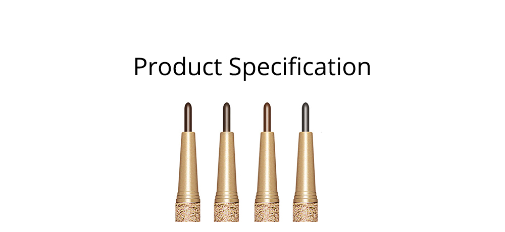 Automatically Rotate Eyebrow Pencil for Beginners Double-headed Lasting Waterproof  Cosmetics Makeup Tool With FREE 3PCS Eyebrow Card Replacement Core 7