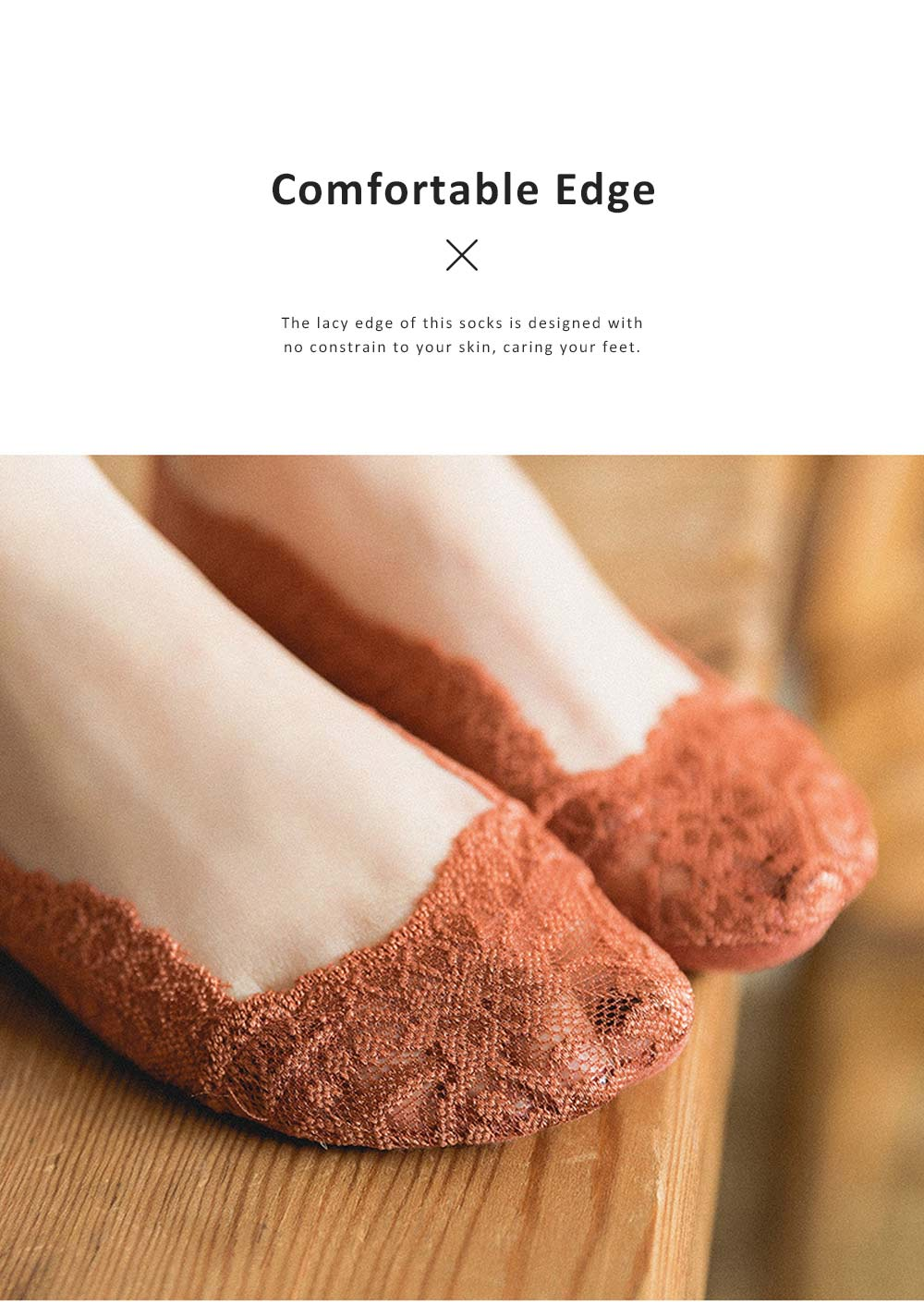 Summer Latest Thin Korean Style Lace Socks for Girls, Comfortable & Breathable Low-cut Invisible Ankle Socks 5