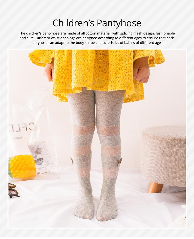 Spring Summer Children's Pantyhose All Cotton Metallic Yarn Mesh Thin Infant Fashion Stockings Two-needle Baby Leggings 0
