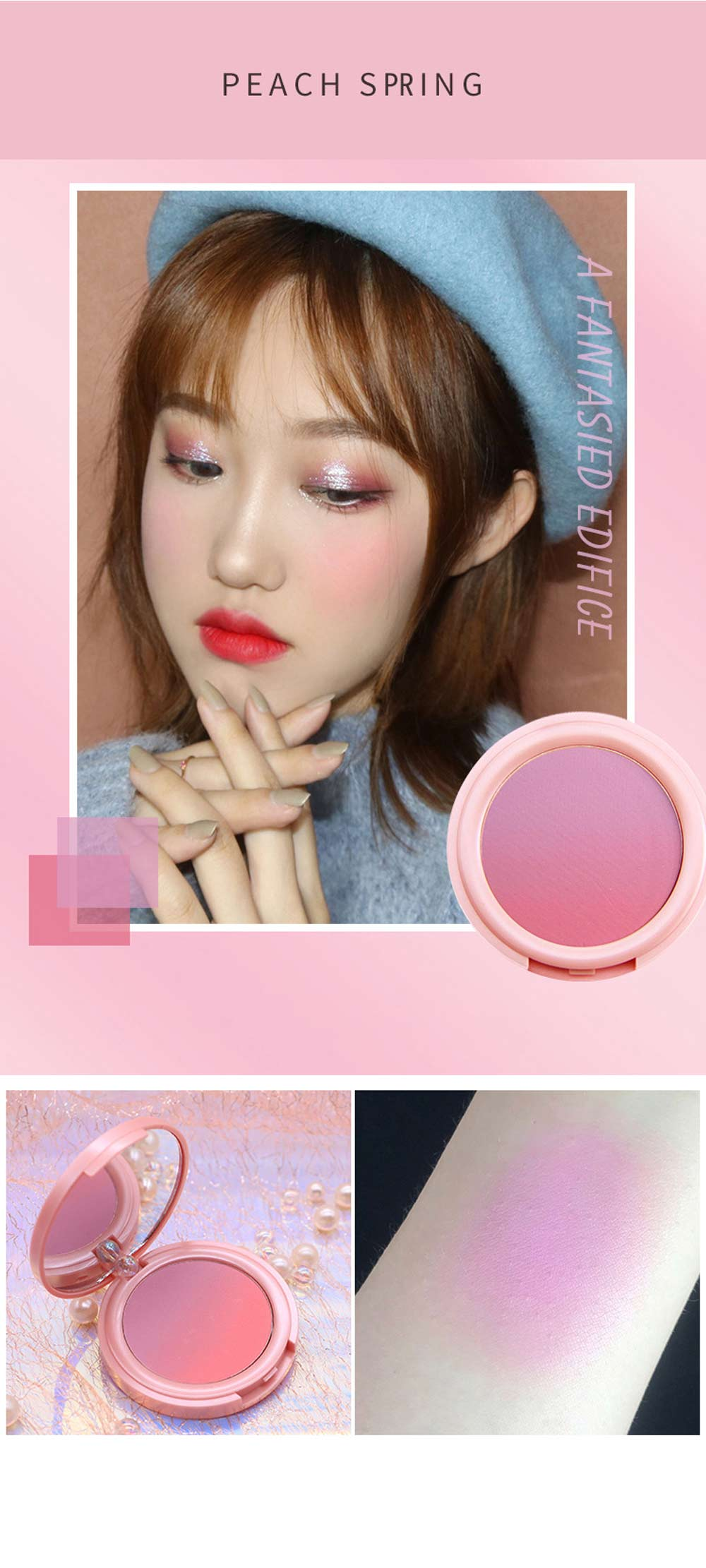 Cheek Powder Blush Professional High Definition Blush Contouring Blusher Makeup Box 5