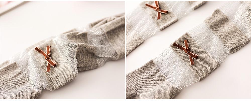 Spring Summer Children's Pantyhose All Cotton Metallic Yarn Mesh Thin Infant Fashion Stockings Two-needle Baby Leggings 3