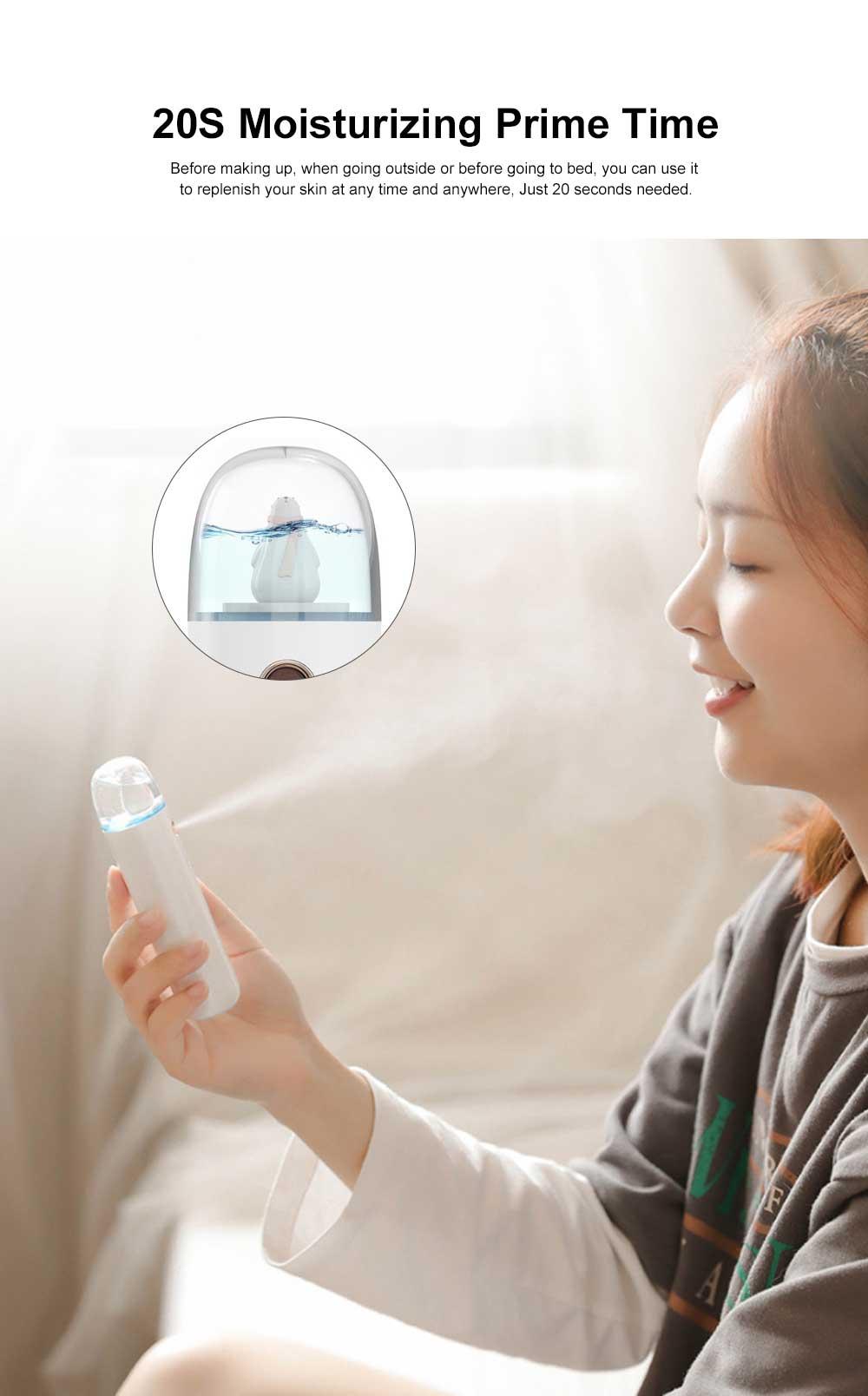 Mini Face Humidifier Nano Spray Hydrator USB Rechargeable Portable Facial Sprayer Machine for Face Skin Caring 1