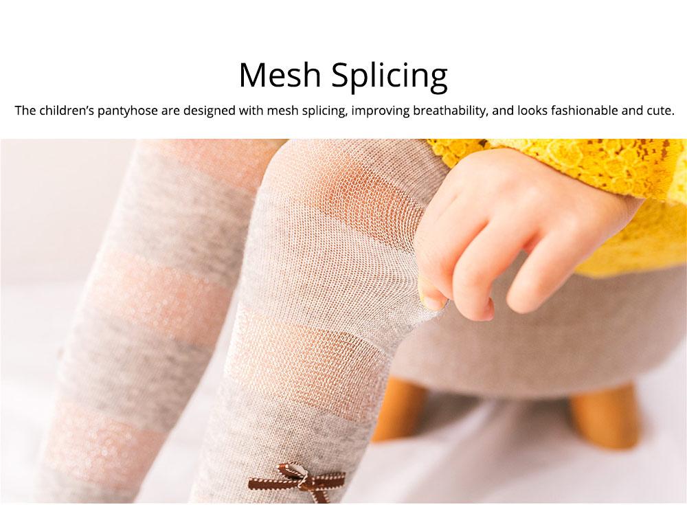 Spring Summer Children's Pantyhose All Cotton Metallic Yarn Mesh Thin Infant Fashion Stockings Two-needle Baby Leggings 2