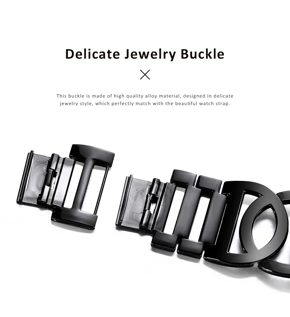 Women Fashionable Chain Bracelet Watch without Readings Hollow Style Wristwatch with Drills 2