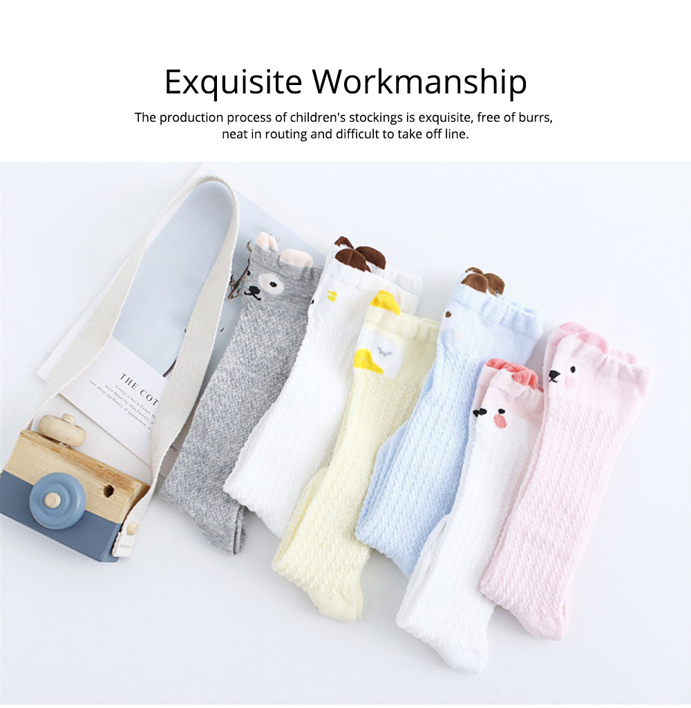 Children's Anti-mosquito Stockings for Baby All Cotton Mesh Three-dimensional Cartoon Leggings Knee High Socks Thin Spring Summer 4