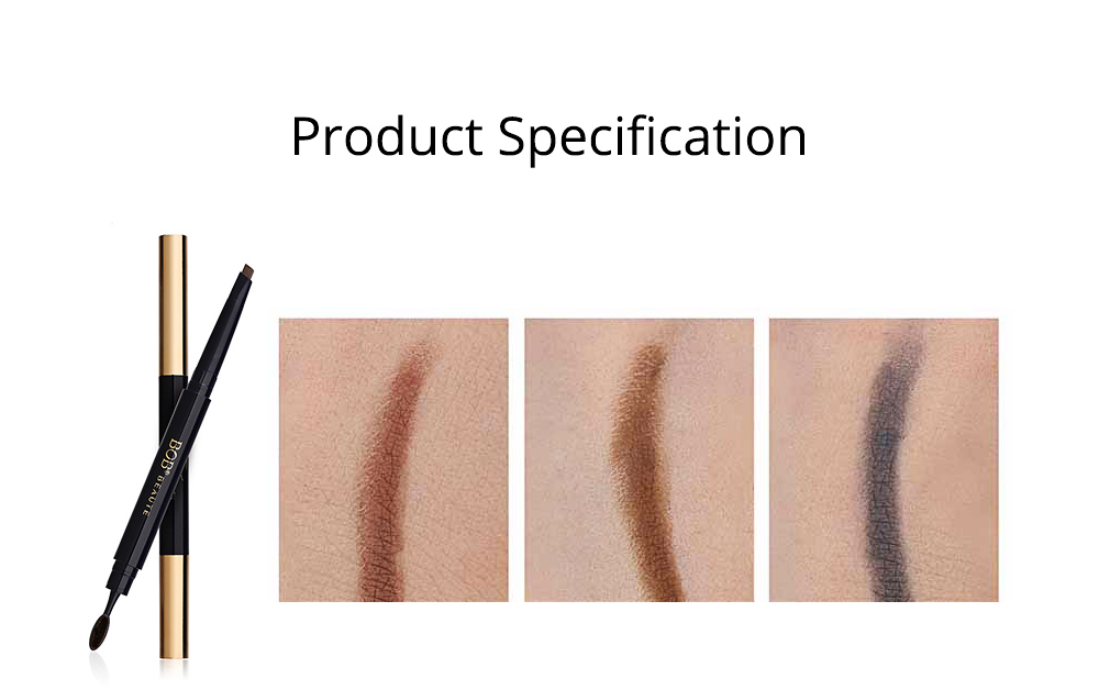 Delicate Eyebrow Pencil Deep Sea Fish Oil Luxury Automatic Rotation Double-headed Suit with Brow Knife 6
