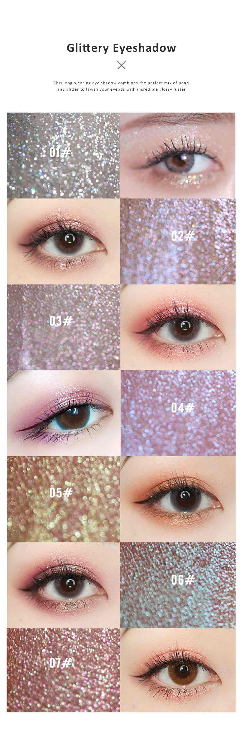 Unicorn Liquid Eye Shadow Waterproof Shimmery Eye Gloss Single Color Lightweight Cosmetic for Women Ladies Girls Women Make Up Tool 1