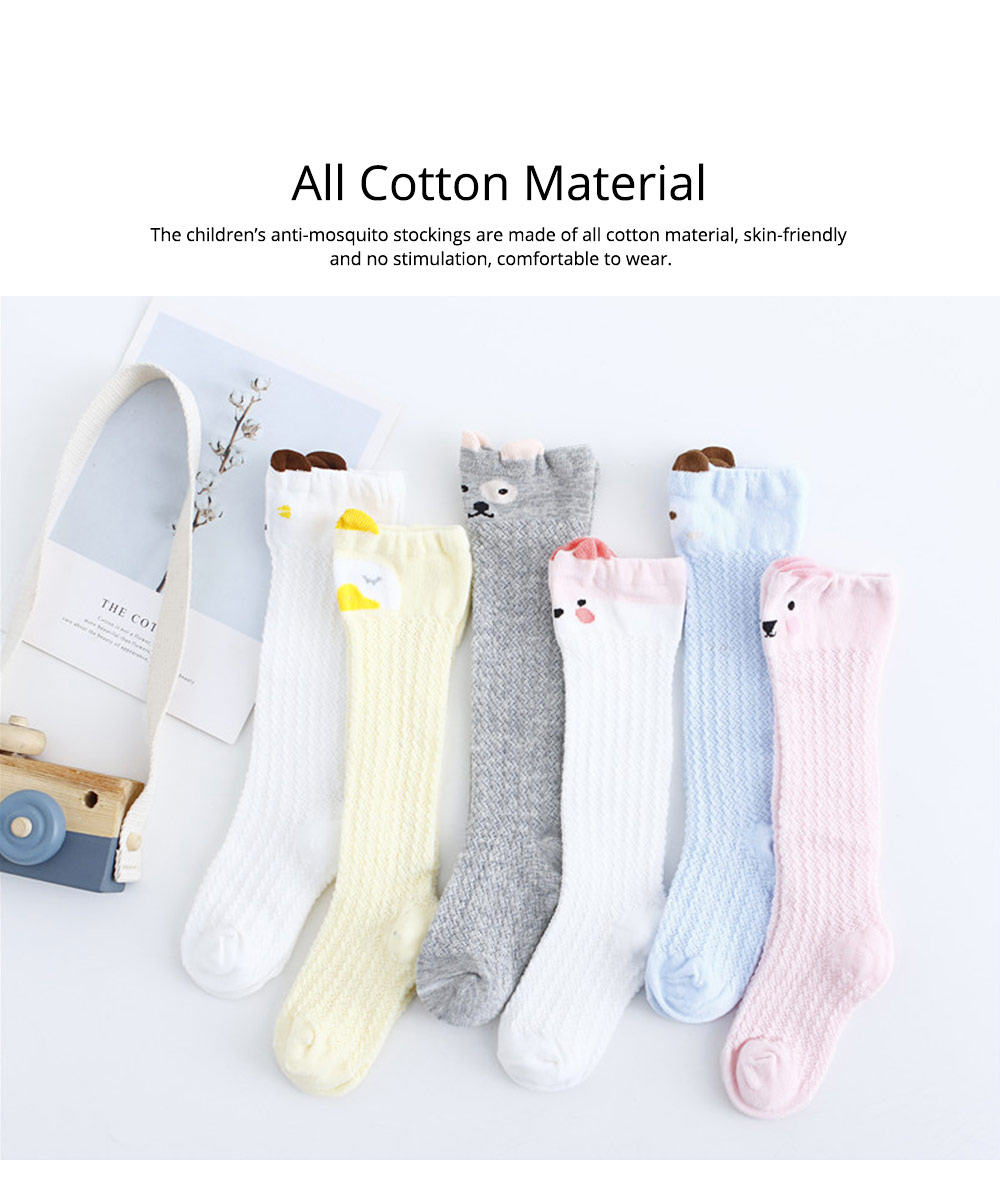 Children's Anti-mosquito Stockings for Baby All Cotton Mesh Three-dimensional Cartoon Leggings Knee High Socks Thin Spring Summer 1