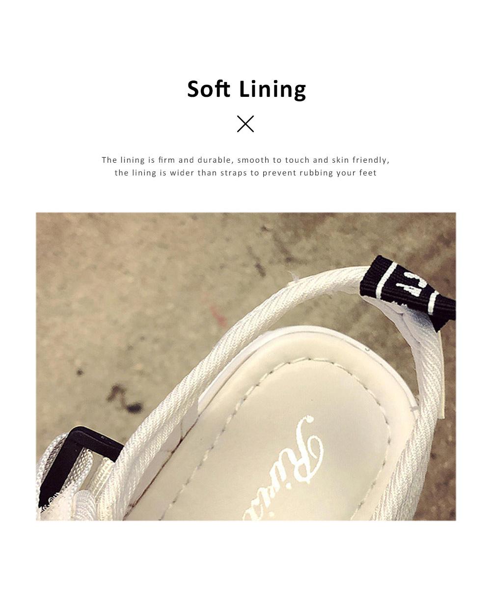 Women Scandal Elastic Adjustable Velcro Strap Shoe Breathable Athletic Open Toe Shoe Bear Bottom for Walking Running 3