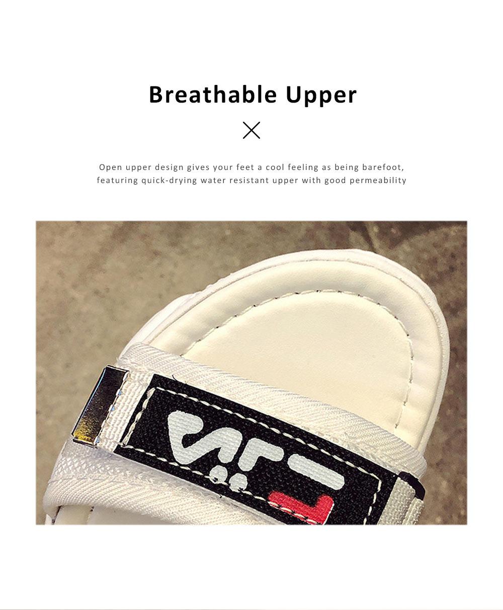 Women Scandal Elastic Adjustable Velcro Strap Shoe Breathable Athletic Open Toe Shoe Bear Bottom for Walking Running 1