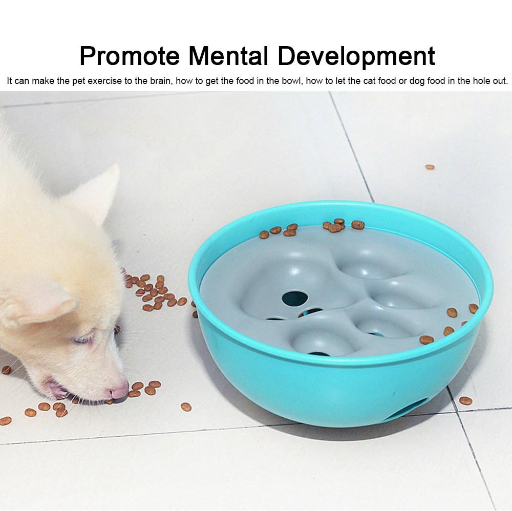 Anti-Chocking Pet Feeding Bowl Durable Anti-Bloat Eating Bowl Cat & Dog Brain Exercise Puzzle Toy 1