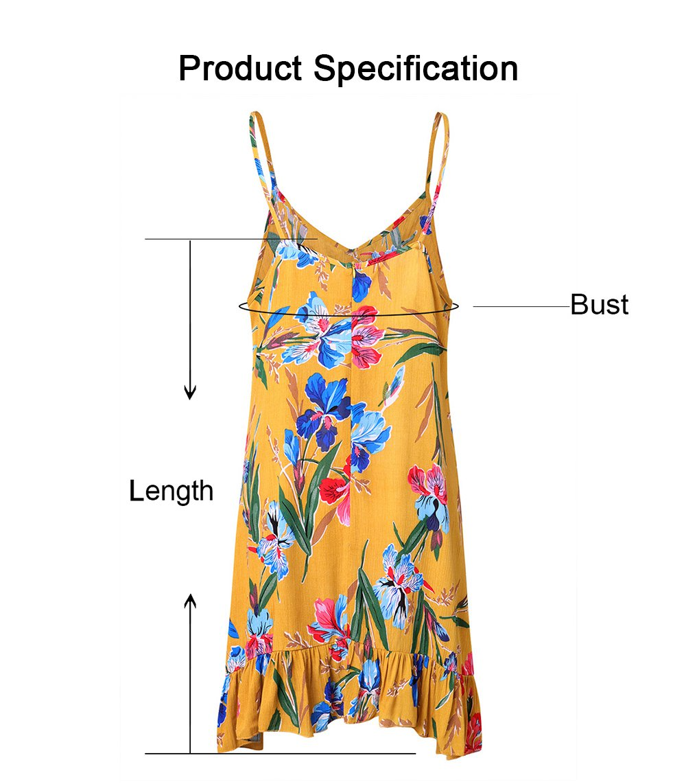 2019 Printed Dresses for Women, Women's Sleeveless Bohemian Strappy Skirt for Ladies 5