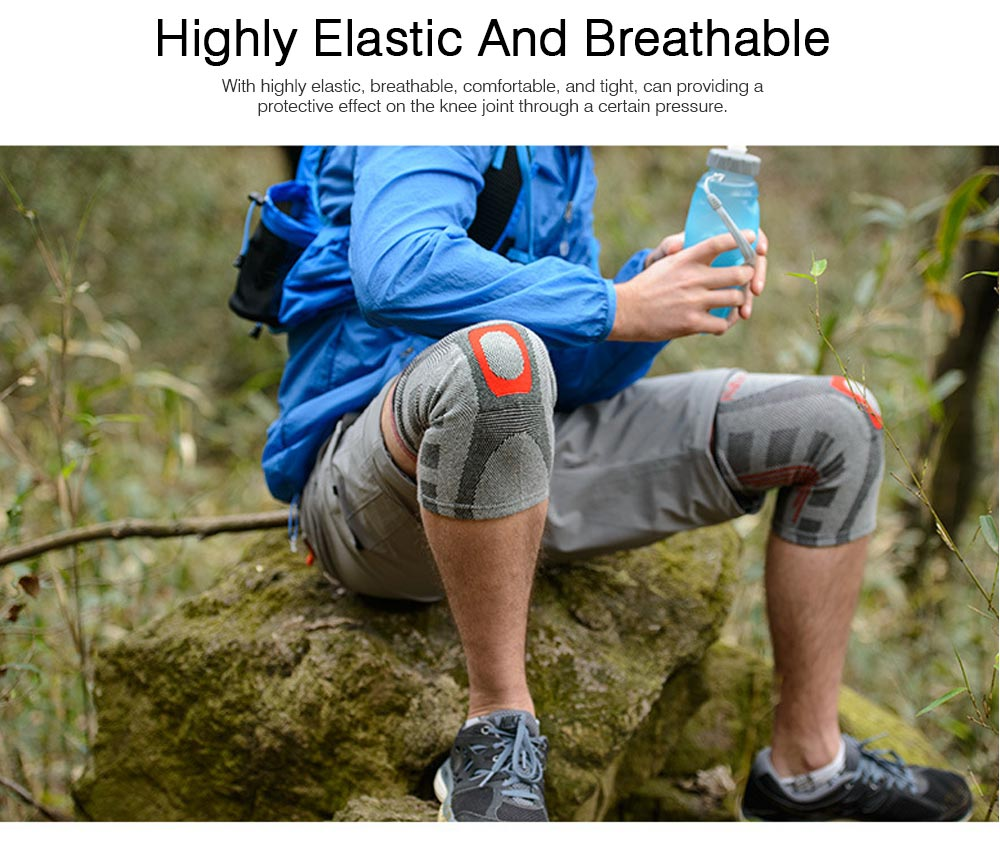 Anti-slip Sports Knee Pad Nylon High Elasticity Knee Support Guard Outdoor Mountaineering Cycling Fitness Breathable Stretch Knit Protector Gear 1