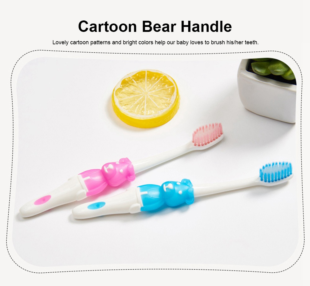 Baby Cartoon Toothbrush Children Manual Soft Bristles Teeth Cleaning Anti-slip Toothbrush  2