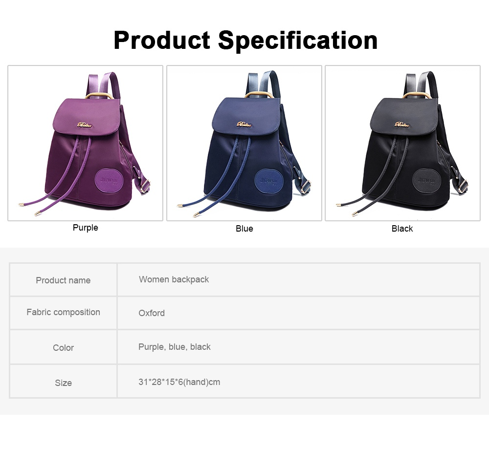 Women Traveling Waterproof Backpack, Oxford Backpack Shopping Bag for Casual Daypack for Girls 8