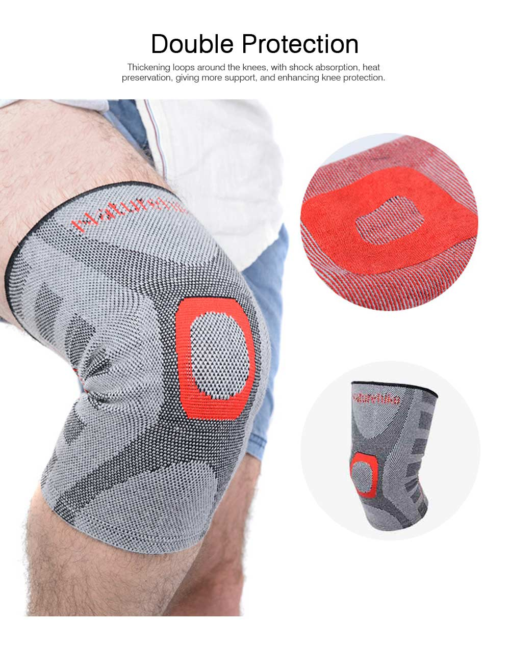 Anti-slip Sports Knee Pad Nylon High Elasticity Knee Support Guard Outdoor Mountaineering Cycling Fitness Breathable Stretch Knit Protector Gear 2