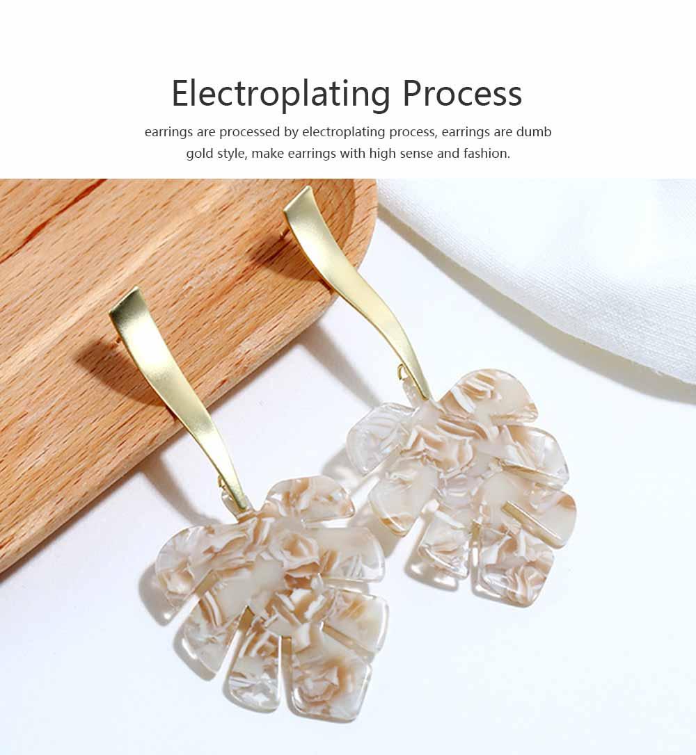 Ear-bob Zinc Alloy Material Ear Pendant Electroplating Process Maple Leaf Earring Decoration  Fashionable Earrings 4