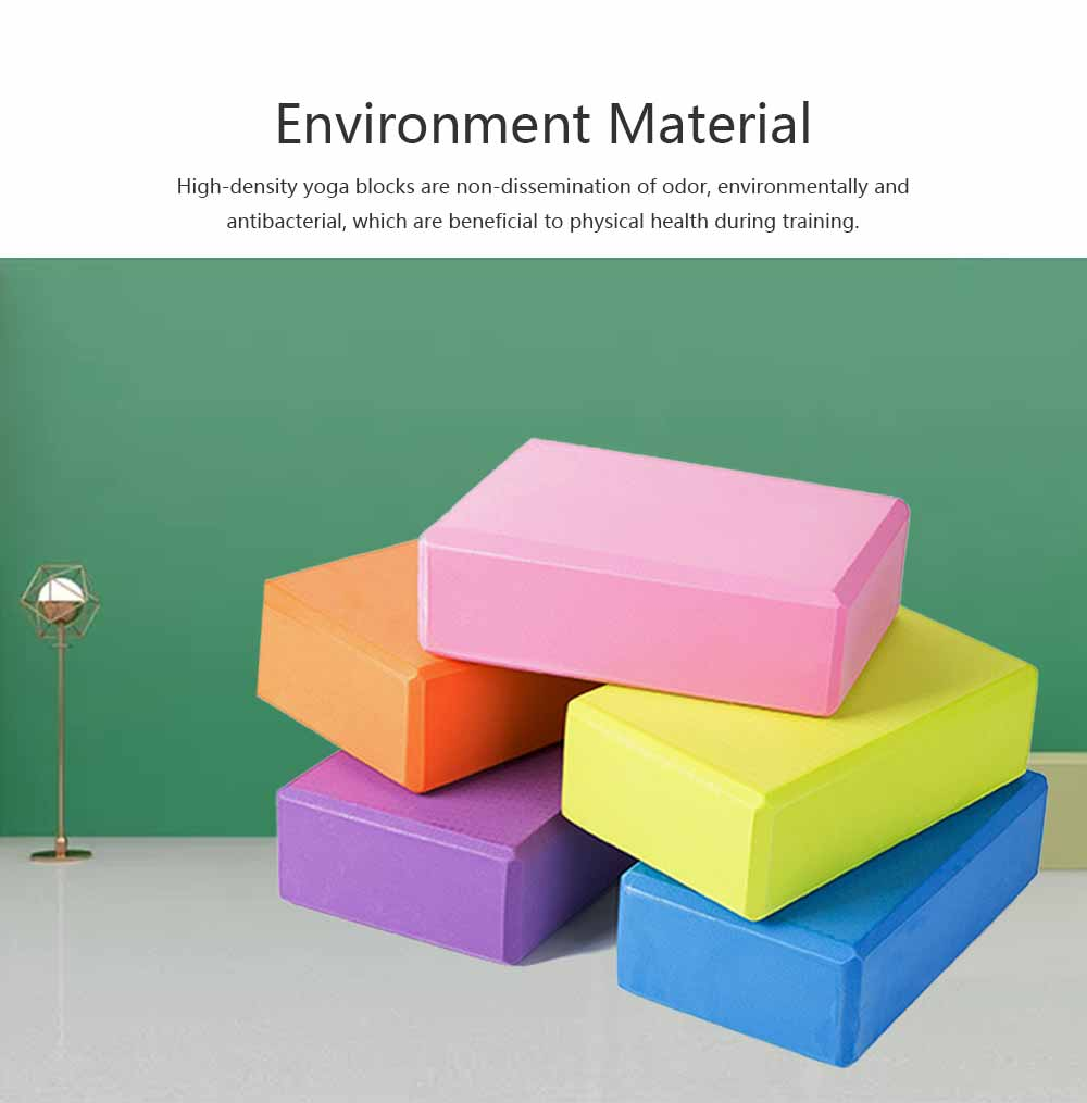 Colorful Cork Yoga Block EVA Moisture-proof Massage Tile Healthy Assist for Practitioners Fitness Environment Training Brick 1