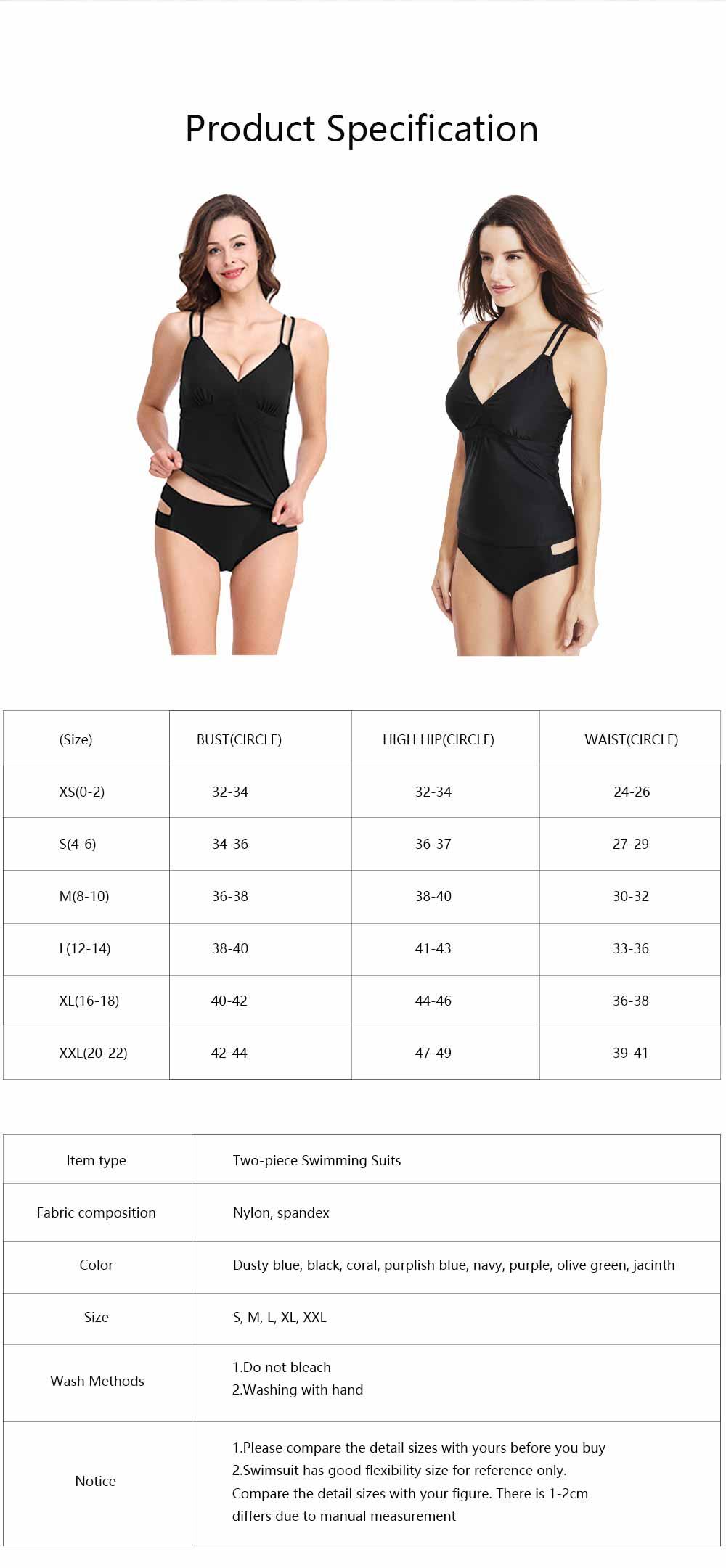 Women Cross Straps Bikini, Removeable Soft Cup Bikini, High Elastic Two Piece Swimming Suits for Ladies Girls 6