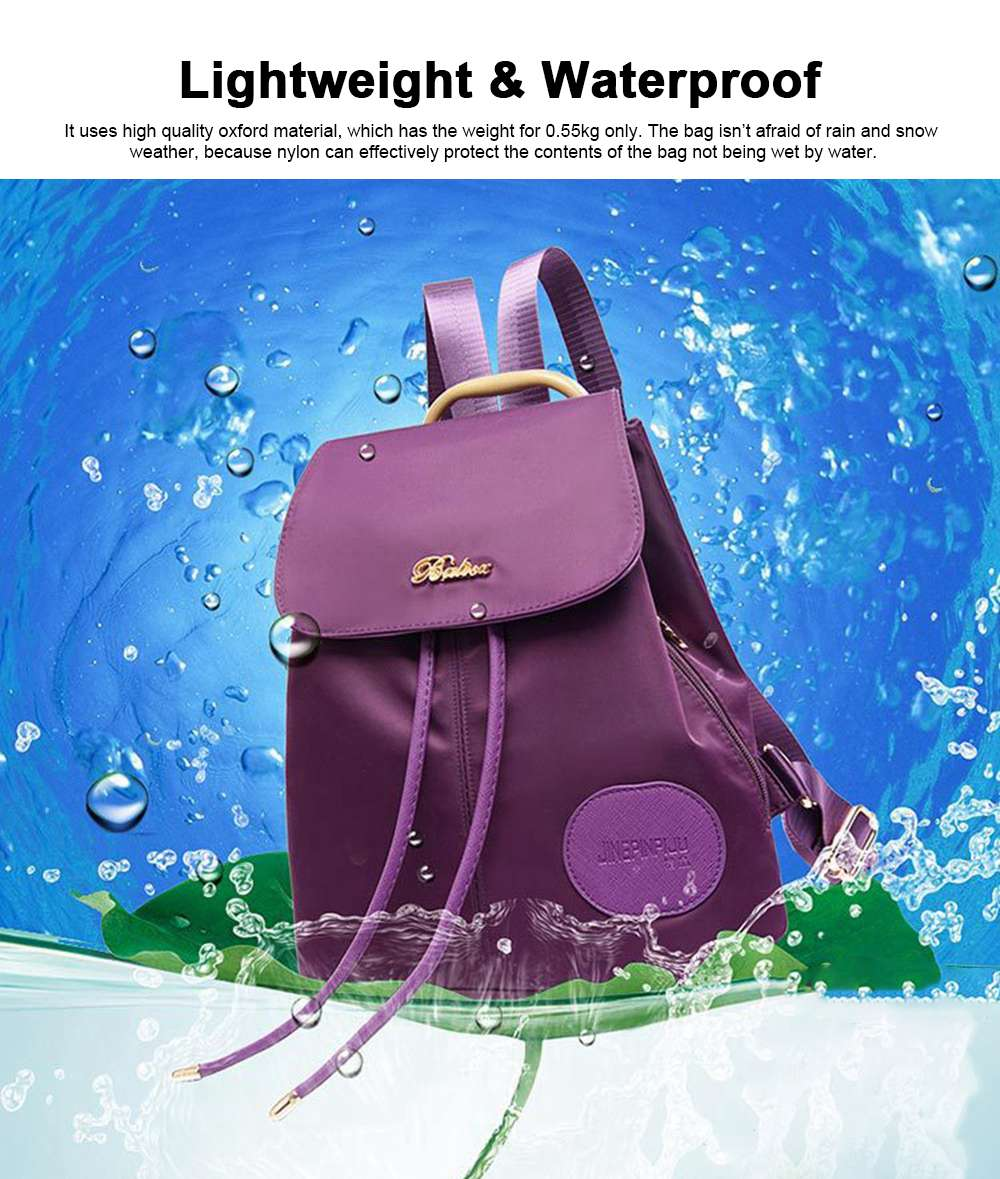 Women Traveling Waterproof Backpack, Oxford Backpack Shopping Bag for Casual Daypack for Girls 1