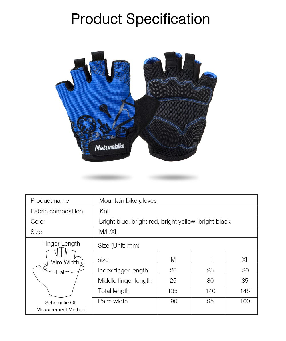 Men Women Outdoor Comfortable Sports Bicycle Cycling Gloves Half Finger Breathable Non-slip Soft Shockproof Mountain Bike Gloves 6