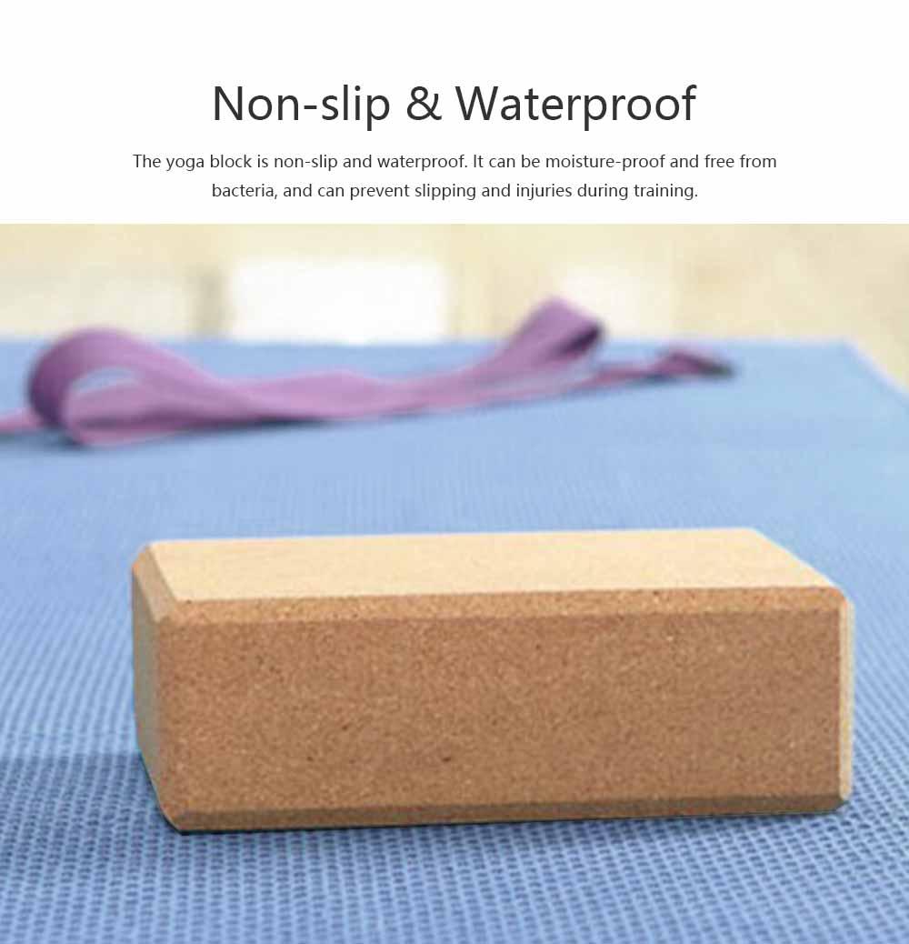 Cork Yoga Brick EVA Non-slip Training Tile Assist for Practitioners Fitness Environment Massage Yoga Block 3