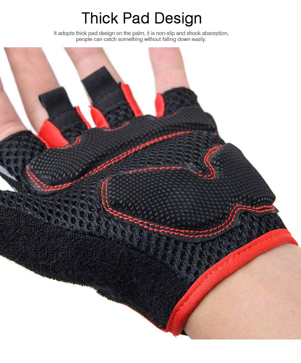 Men Women Outdoor Comfortable Sports Bicycle Cycling Gloves Half Finger Breathable Non-slip Soft Shockproof Mountain Bike Gloves 2
