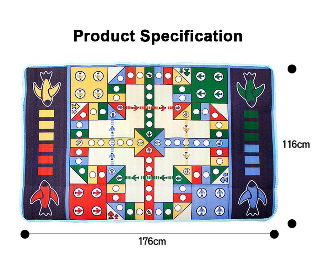 Flying Chess Carpet Desktop Large Flying Chess Game Pad, Chess Rug for Kid's Home Play, Soft Crawling Floor Mat for Children & Infants 5
