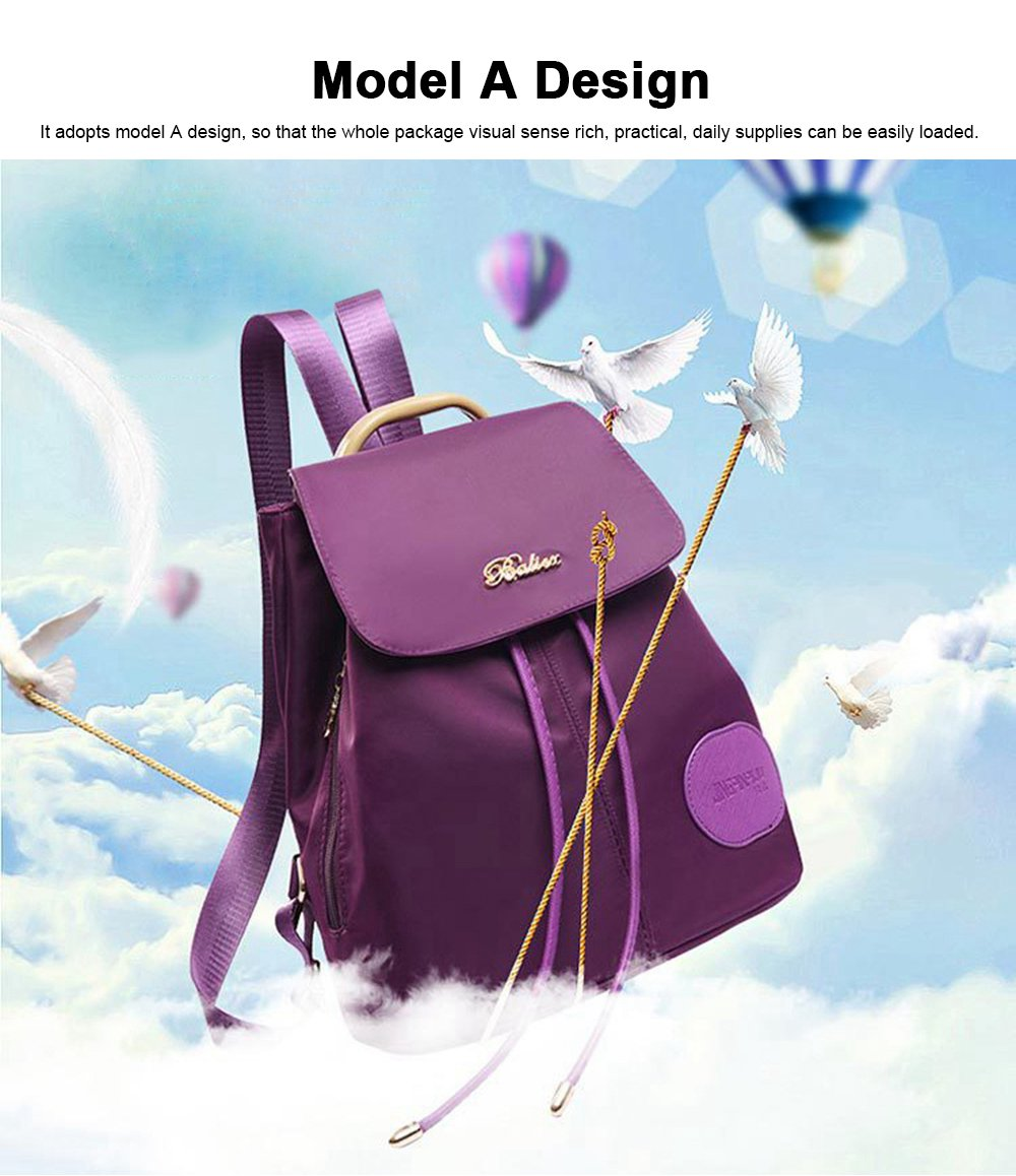 Women Traveling Waterproof Backpack, Oxford Backpack Shopping Bag for Casual Daypack for Girls 2