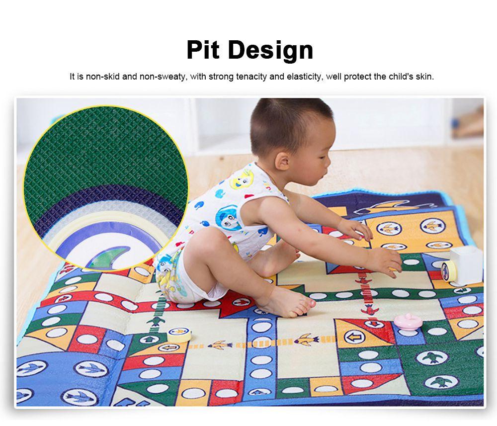 Flying Chess Carpet Desktop Large Flying Chess Game Pad, Chess Rug for Kid's Home Play, Soft Crawling Floor Mat for Children & Infants 2