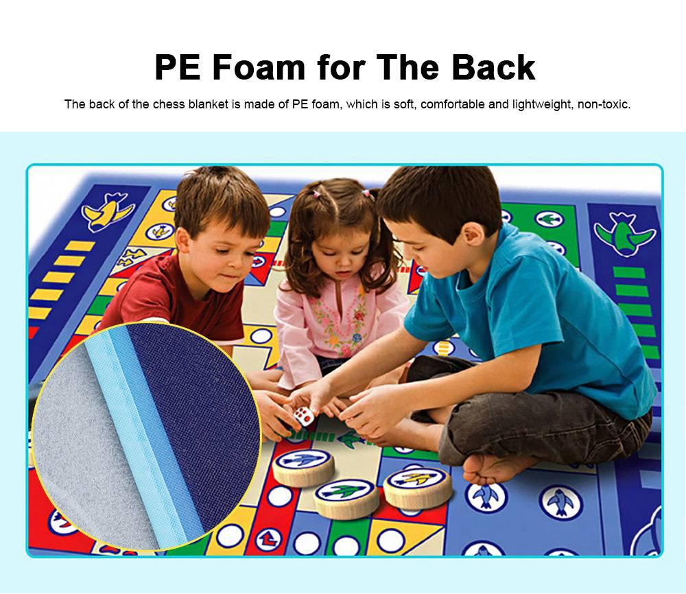 Flying Chess Carpet Desktop Large Flying Chess Game Pad, Chess Rug for Kid's Home Play, Soft Crawling Floor Mat for Children & Infants 4