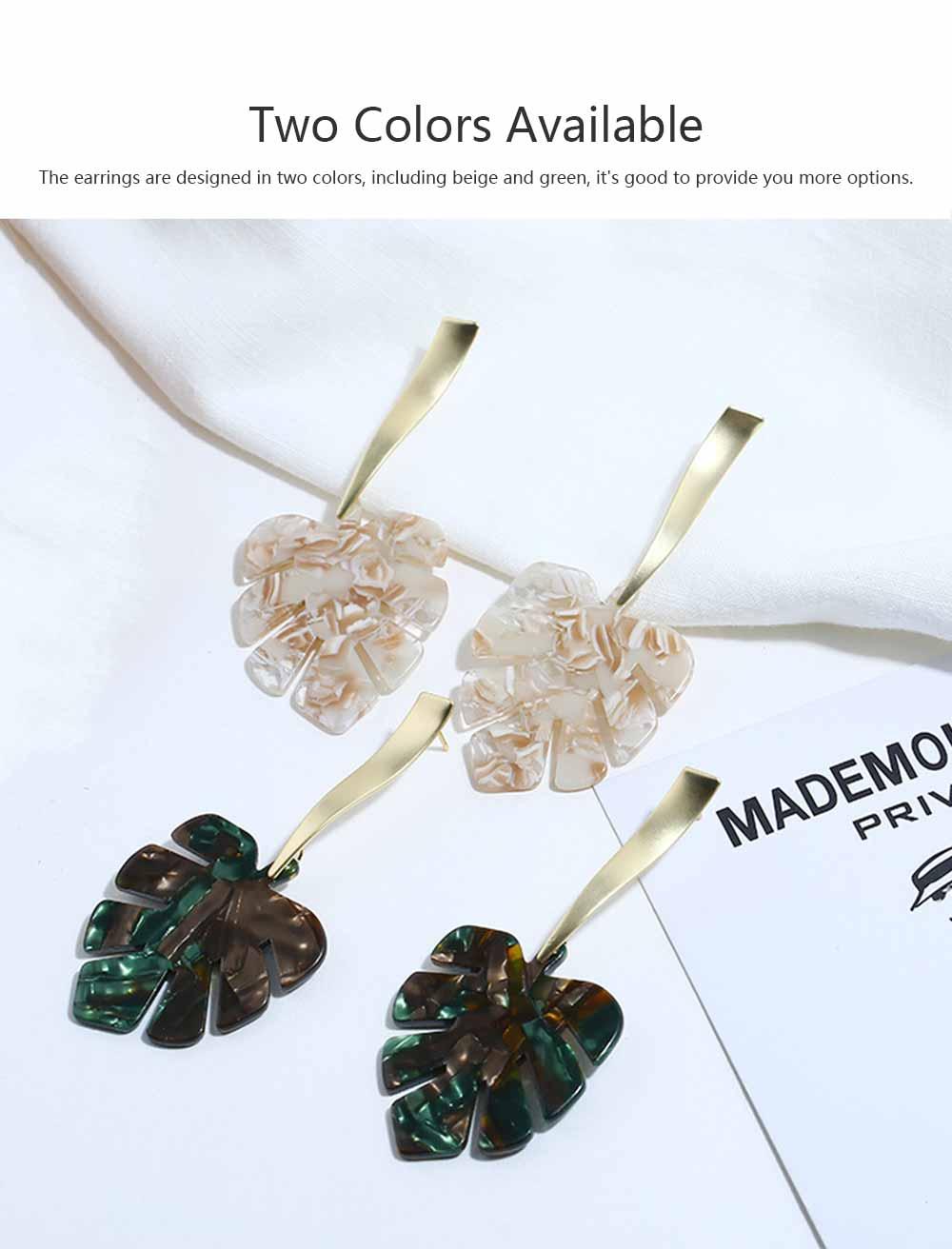 Ear-bob Zinc Alloy Material Ear Pendant Electroplating Process Maple Leaf Earring Decoration  Fashionable Earrings 3
