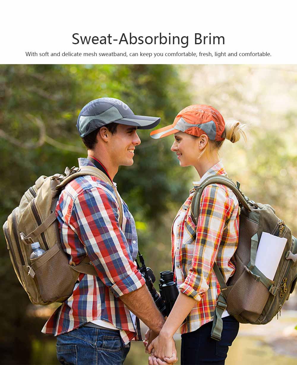 Outdoor Sport Running Baseball Mesh Hat Quick-drying Summer Visor Breathable Cap for Camping Hiking 4