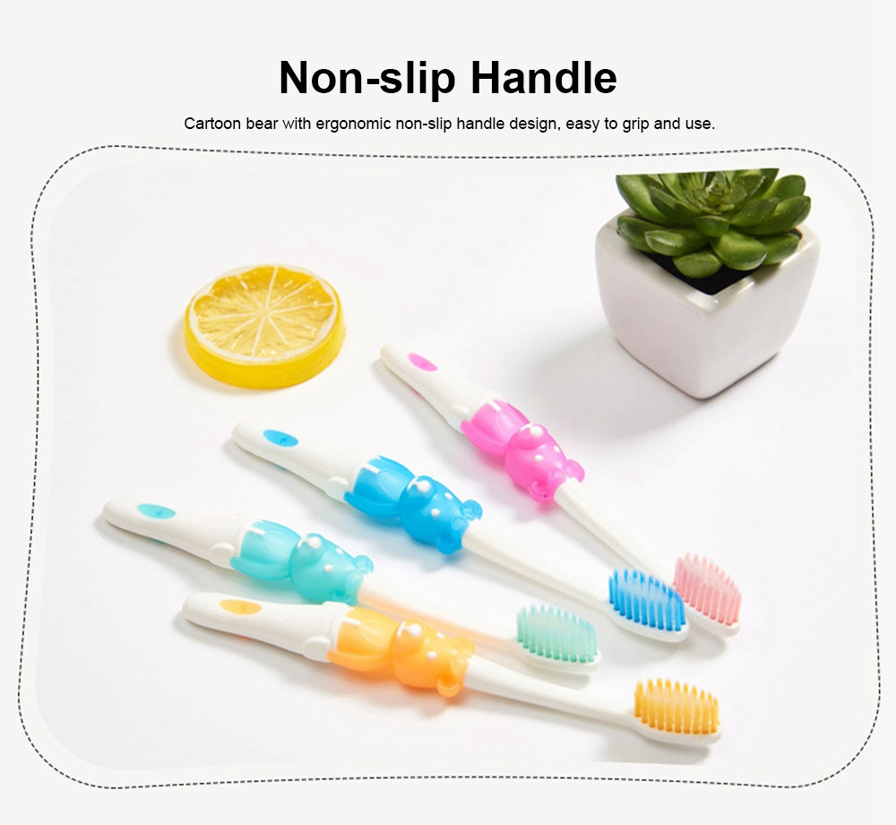 Baby Cartoon Toothbrush Children Manual Soft Bristles Teeth Cleaning Anti-slip Toothbrush  1