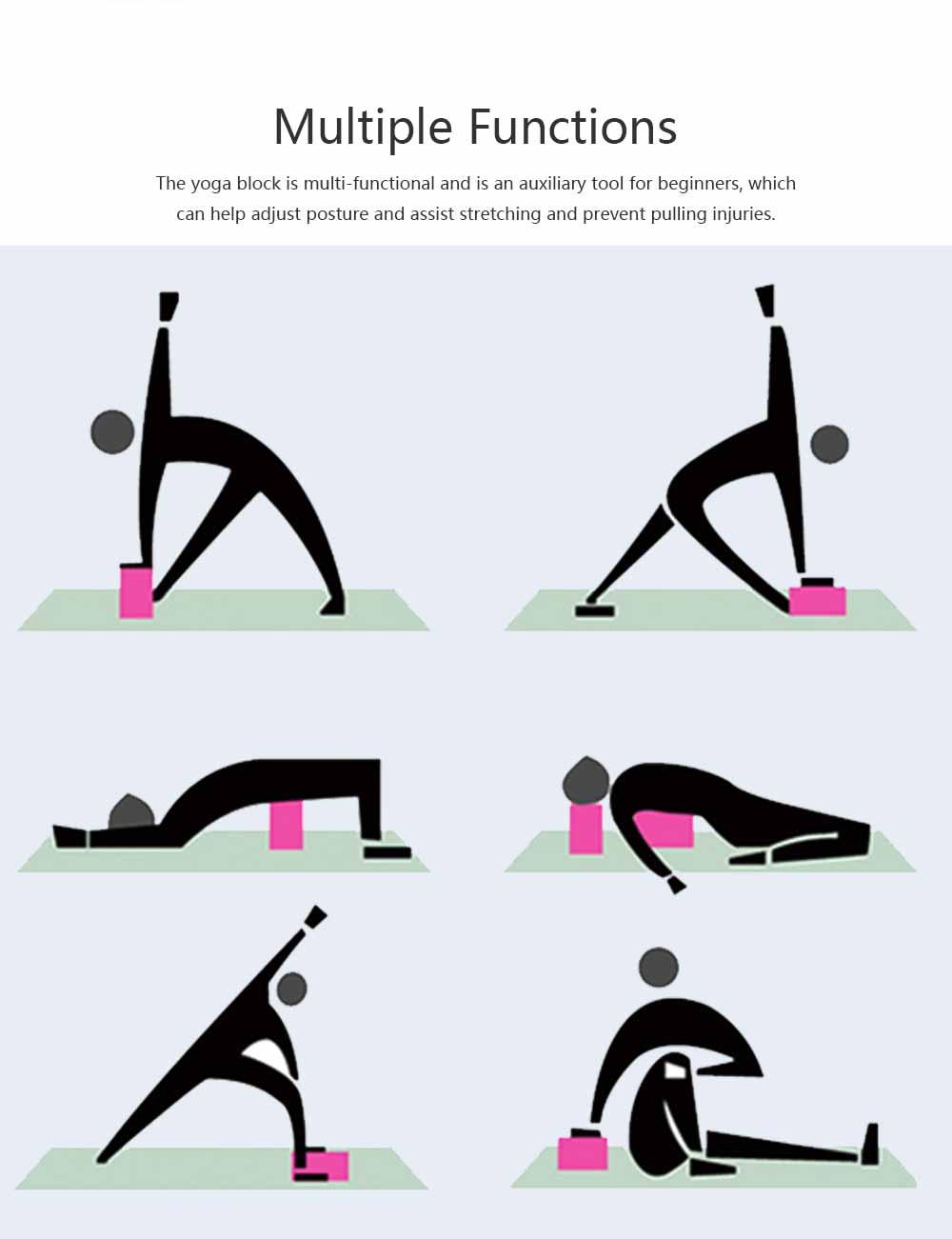 Cork Yoga Brick EVA Non-slip Training Tile Assist for Practitioners Fitness Environment Massage Yoga Block 6