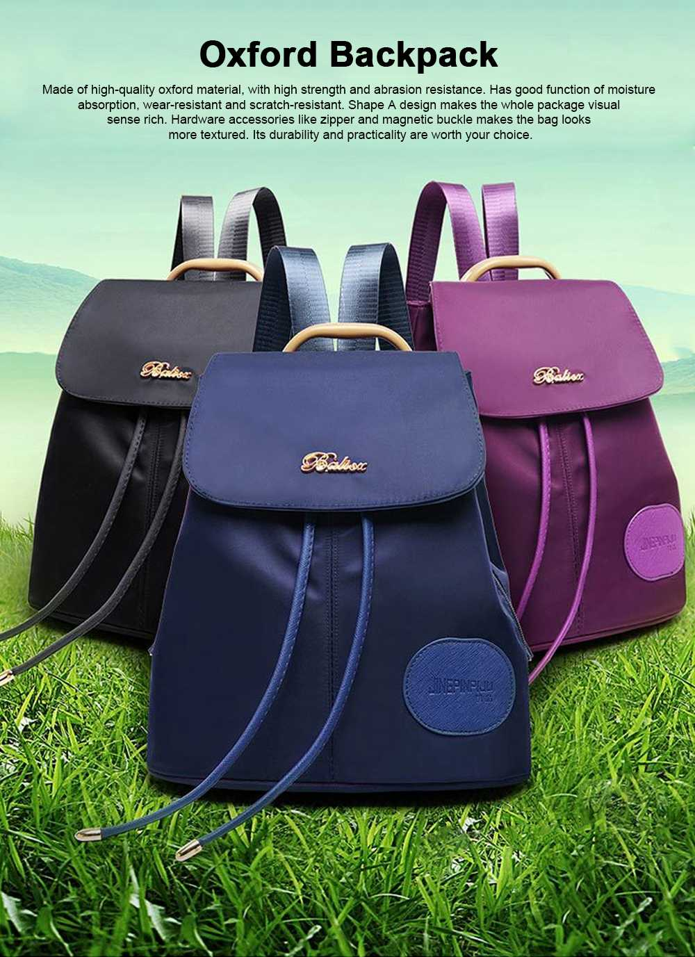 Women Traveling Waterproof Backpack, Oxford Backpack Shopping Bag for Casual Daypack for Girls 0