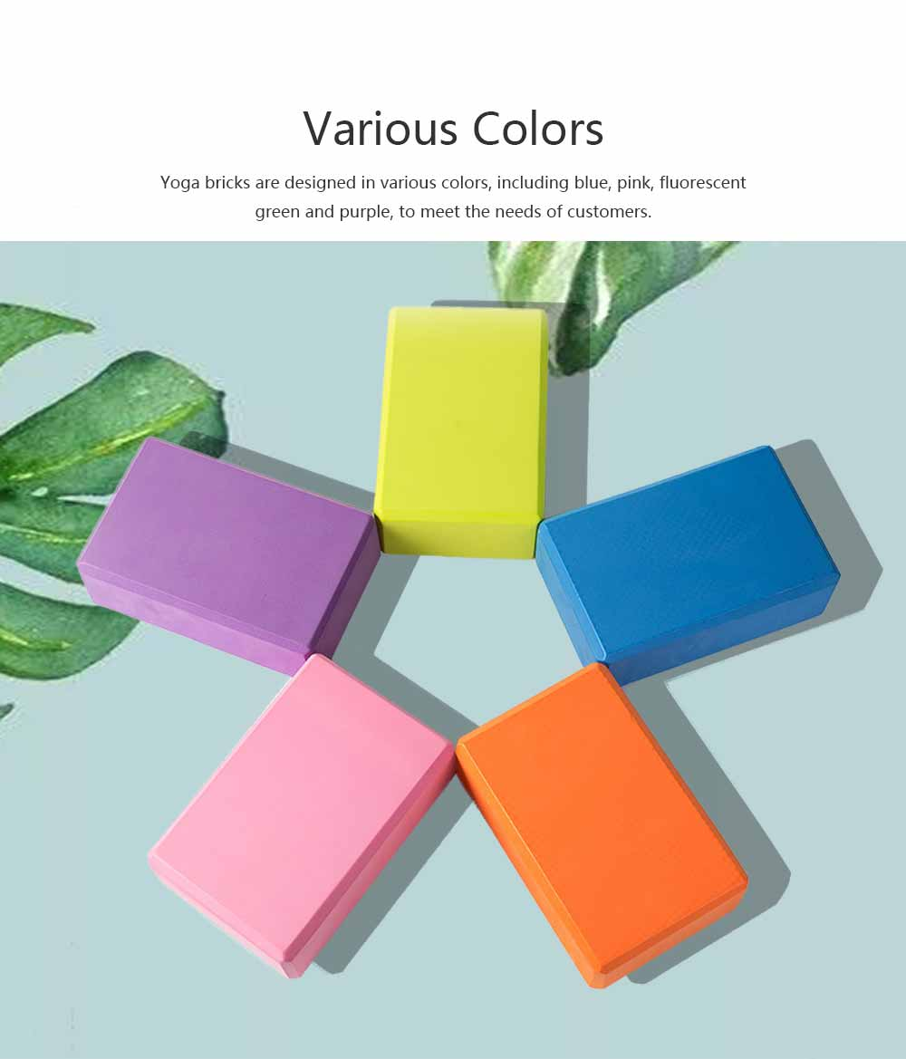 Colorful Cork Yoga Block EVA Moisture-proof Massage Tile Healthy Assist for Practitioners Fitness Environment Training Brick 4