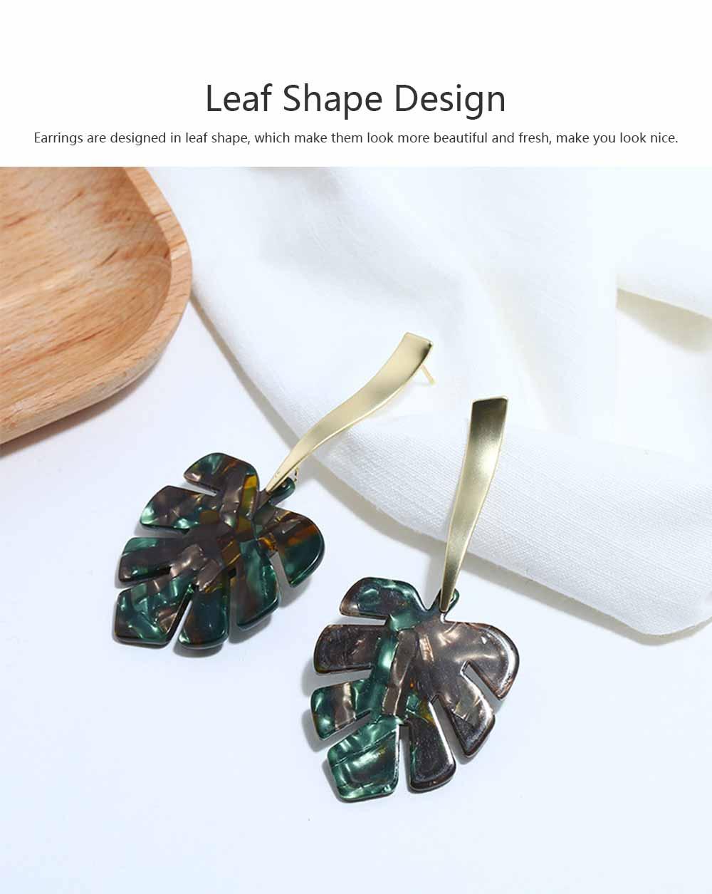 Ear-bob Zinc Alloy Material Ear Pendant Electroplating Process Maple Leaf Earring Decoration  Fashionable Earrings 2