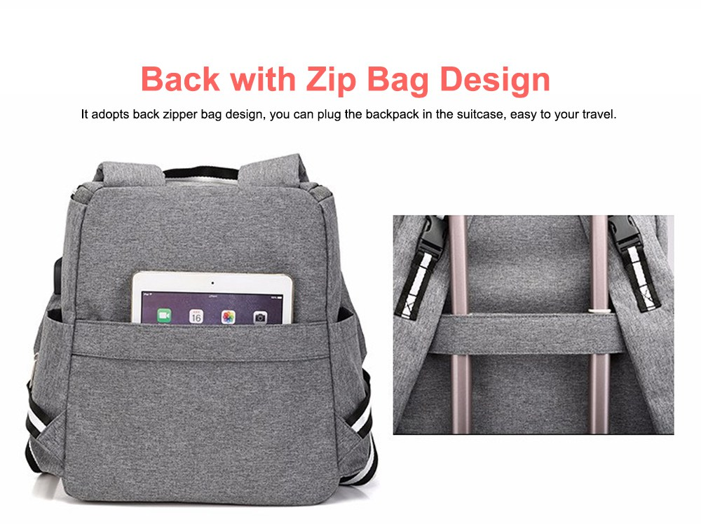 Multi-functional Diaper Backpack Large Soft Durable Capacity Backpack with USB Port for Mom & Dad 5