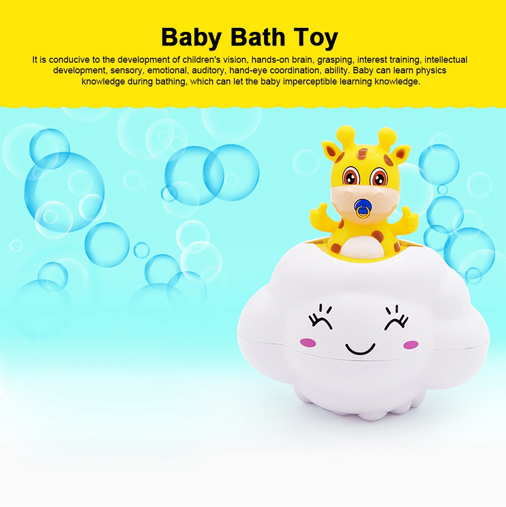 Bath Toy for Children Educational Toys Deer Pig Cloud Shaped Water Playing Toy 0