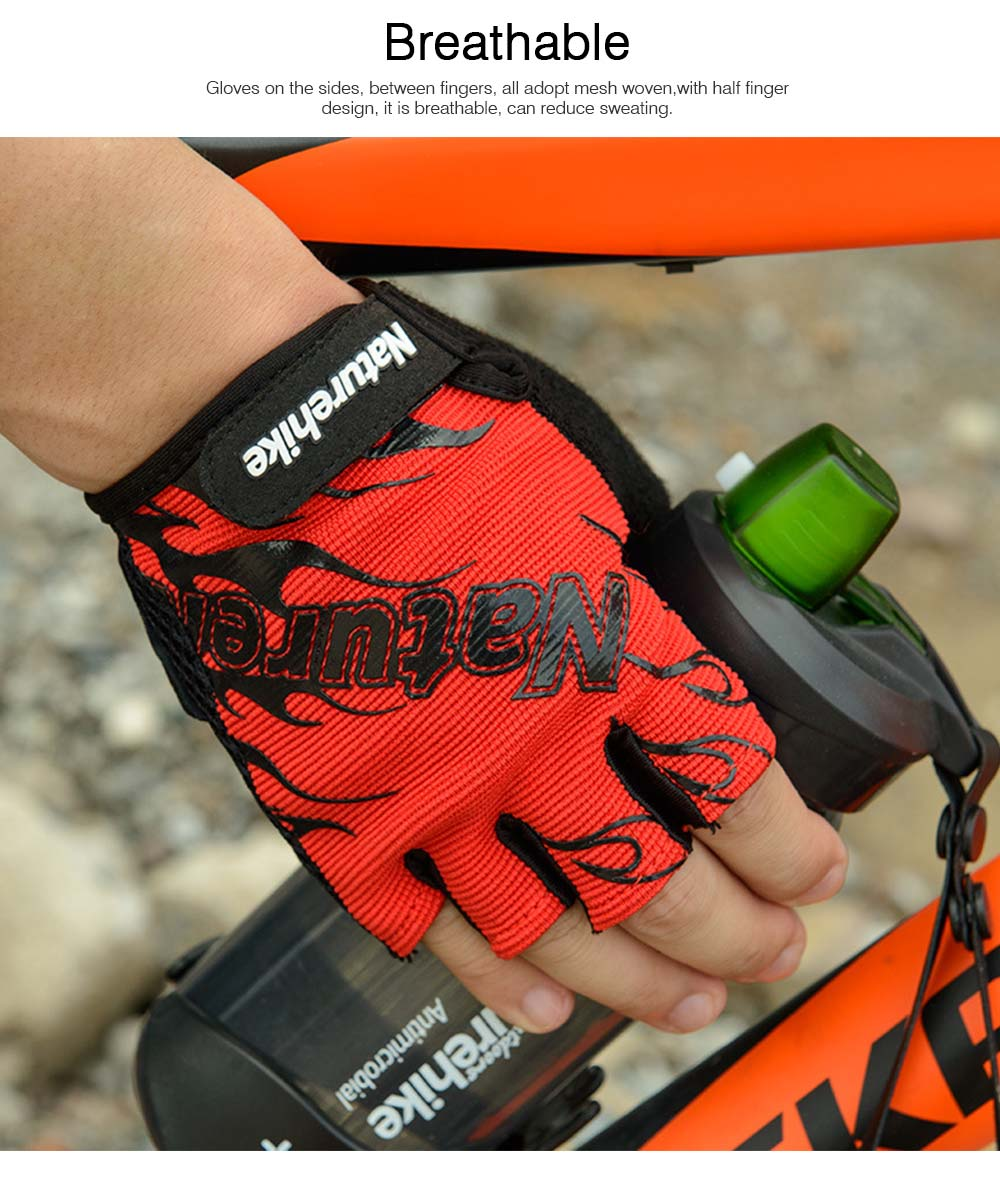 Men Women Outdoor Comfortable Sports Bicycle Cycling Gloves Half Finger Breathable Non-slip Soft Shockproof Mountain Bike Gloves 1