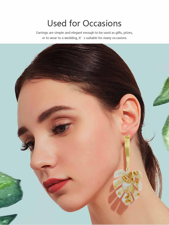 Ear-bob Zinc Alloy Material Ear Pendant Electroplating Process Maple Leaf Earring Decoration  Fashionable Earrings 5