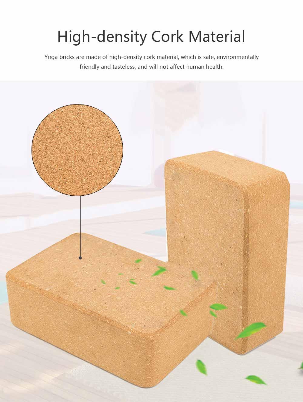 Cork Yoga Brick EVA Non-slip Training Tile Assist for Practitioners Fitness Environment Massage Yoga Block 1