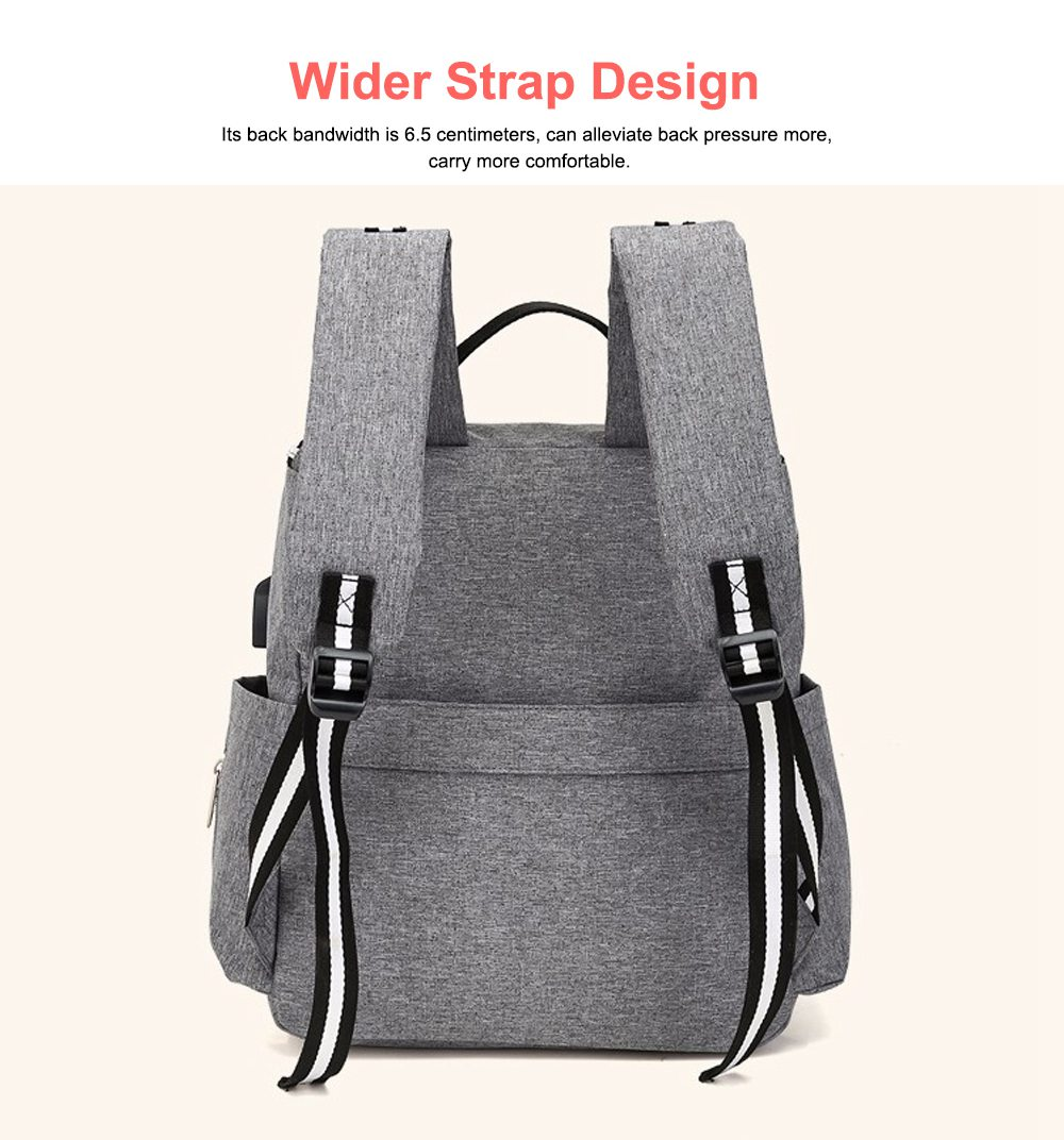 Multi-functional Diaper Backpack Large Soft Durable Capacity Backpack with USB Port for Mom & Dad 1